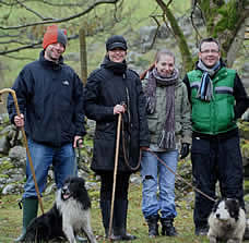 Scott, Nicky, Emma and Jerry from Glasgow with Sweep and Smit, February 2009